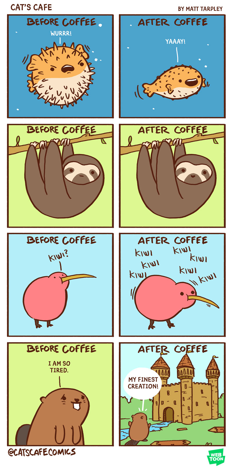 Before Coffee Vs After Coffee Cat S Cafe